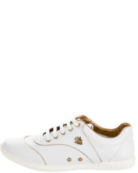 Gucci Leather Round Toe Sneakers