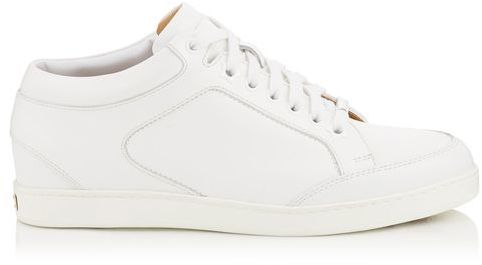 Jimmy Choo Miami White Calf Leather Low