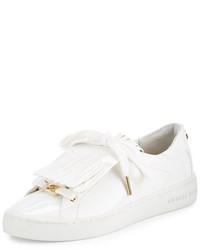 MICHAEL Michael Kors Michl Michl Kors Keaton Kiltie Faux Patent Sneaker Optic White