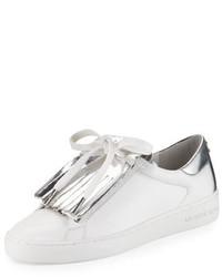MICHAEL Michael Kors Michl Michl Kors Keaton Kiltie Two Tone Sneaker Optic Whitesilver