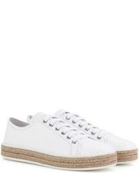 Miu Miu Patent Leather Espadrille Sneakers