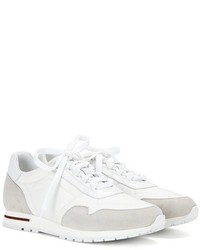 Loro Piana My Wind Microfibre And Suede Sneakers