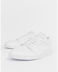 Jordan Nike Air 1 Low Trainers In White