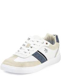 Original Penguin Frost Striped Low Top Sneaker White