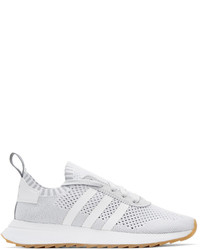 adidas Originals White Grey Flashback Sneakers