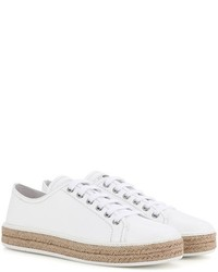 Miu Miu Patent Leather Espadrille Sneakers