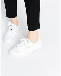 Puma Basket Classic White Sneakers