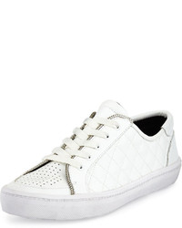 Rebecca Minkoff Sander Too Quilted Low Top Sneaker White