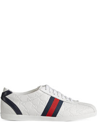 Gucci Ssima Leather Lace Up Sneaker