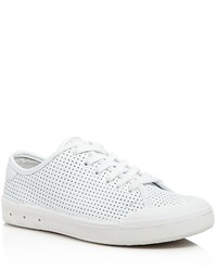 Rag & Bone Standard Issue Perforated Low Top Lace Up Sneakers
