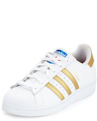 adidas Superstar Original Fashion Sneaker Whitegold