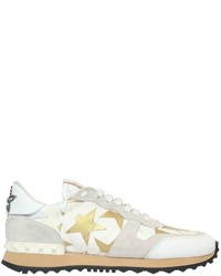 Valentino Rockrunner Camustars Canvas Sneakers