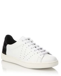 Vince Varin Leather Croc Embossed Sneakers