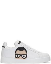 Dolce & Gabbana White Designers Sneakers