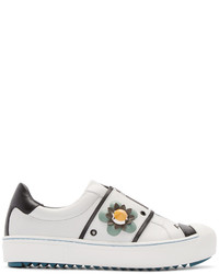 Fendi White Flowerland Sneakers