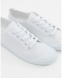 New Look White Plimsoll Trainer