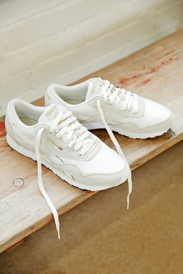 ba704c8e481 ... Urban Outfitters › Reebok › White Low Top Sneakers Reebok X Uo Classic  Nylon Running Sneaker ...