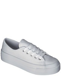 Lavera Xhilaration Flatform Canvas Sneaker White