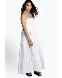 5f84e26f9d5 ... Boohoo Plus Sara Shirred Bandeau Maxi Dress