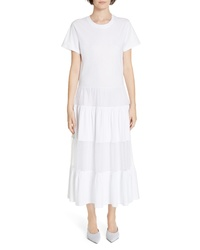 RED Valentino Point Desprit Panel Maxi Dress