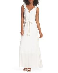 Fraiche by J Ruffle Neck Maxi Dress
