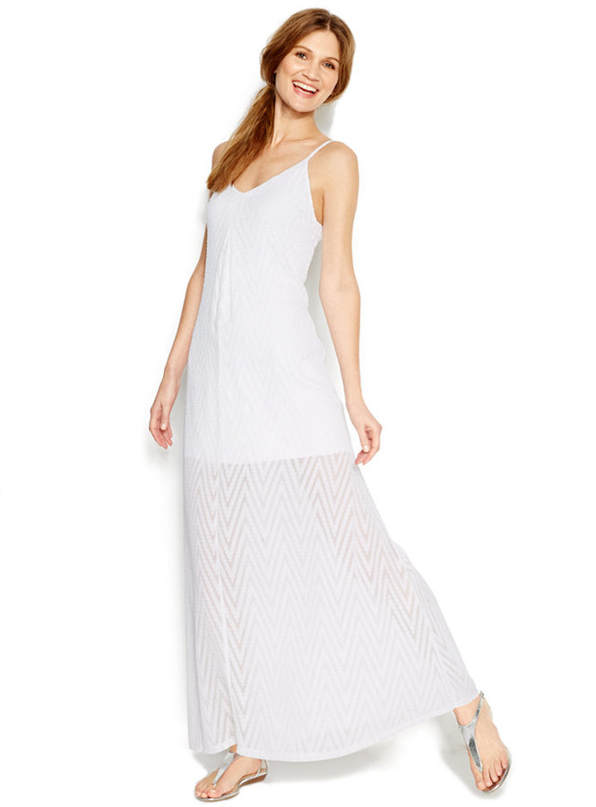 b95bc3760e24f Calvin Klein Textured Maxi Dress,  129   Macy s   Lookastic.com