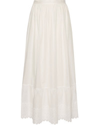 Ghali broderie anglaise cotton maxi skirt white medium 3701058