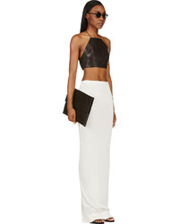 Rick Owens Lilies Ivory White Crossover Maxi Skirt | Where to buy ...