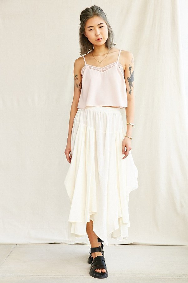 2db53df28a191c Urban Outfitters Urban Renewal Remade Gathered Maxi Skirt, $69 | Urban  Outfitters | Lookastic.com