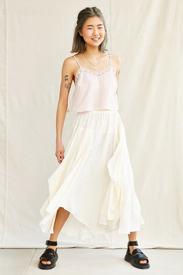 fb1d7dbf79abb3 ... White Maxi Skirts Urban Outfitters Urban Renewal Remade Gathered Maxi  Skirt ...