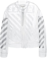 Off-White Sheer Mesh Jacket