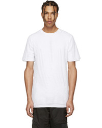 White Mesh Crew-neck T-shirt