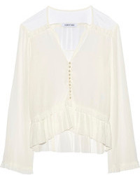 Marian ruffled voile blouse medium 109060