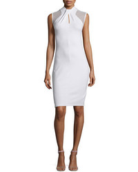 French Connection Tania Sleeveless Sheath Dress White