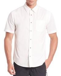 White Mesh Short Sleeve Shirt