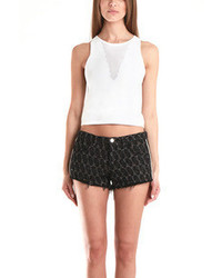 3.1 Phillip Lim Cropped Tank W Mesh Inset