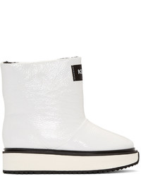 Kenzo White Shearling Moon Boots