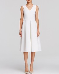 Aqua Dress Neoprene Pleated Midi