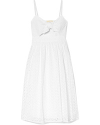 MICHAEL Michael Kors Knotted Cutout Broderie Anglaise Cotton Voile Dress