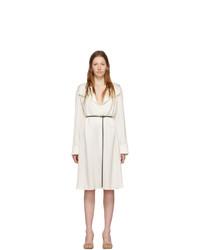 Bottega Veneta Off White Silk Belt Dress