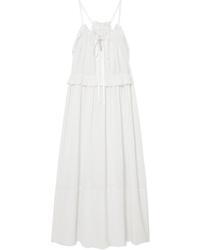Chloé Ruffled Med Silk Crepon Midi Dress