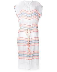 Lemlem Sheer Buttoned Midi Dress