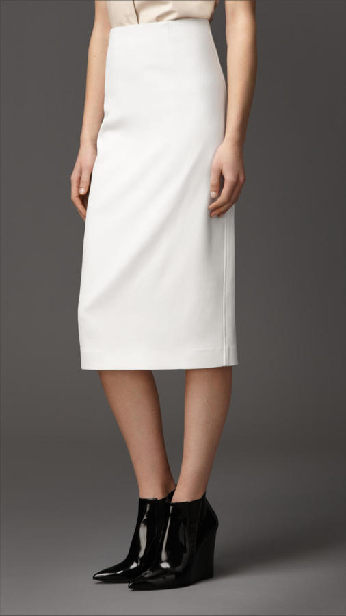 Burberry Piqu Virgin Wool Blend Pencil Skirt | Where to buy & how ...