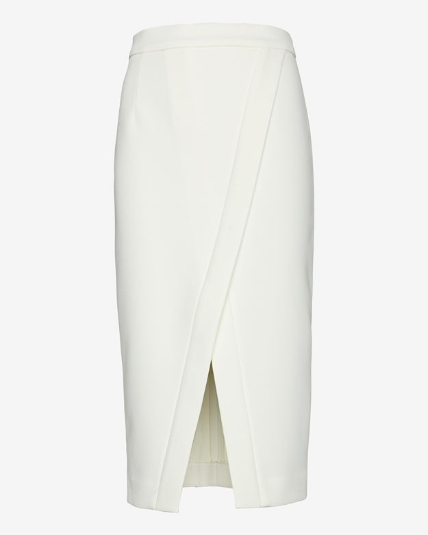 White Long Pencil Skirt - Dress Ala