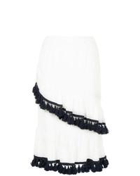 Suboo Tasselled Frill Midi Skirt