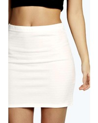 White Bodycon Skirt Mini - Dress Ala