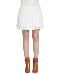 Chloe tassel detailed gathered mini skirt white medium 4416036