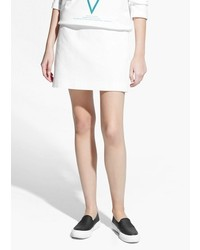Mango Outlet Cotton Miniskirt