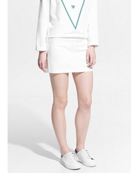 Mango Outlet Grosgrain Trim Miniskirt