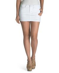 Levi's Juniors Low Rise Mini Skirt Winter White